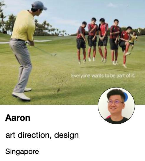 Aaron - art director