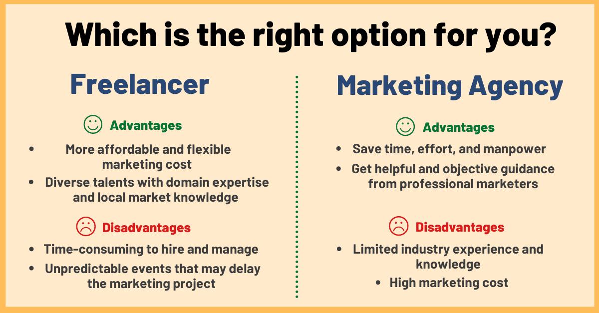 marketing agency vs freelancer