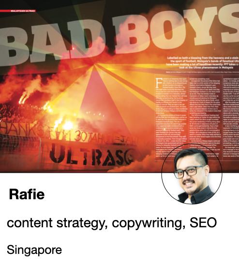 Rafie - Writer